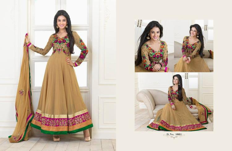 Sonal Chauhan In Brown Anarkali Nice And Cool Look Photo Shoot Still