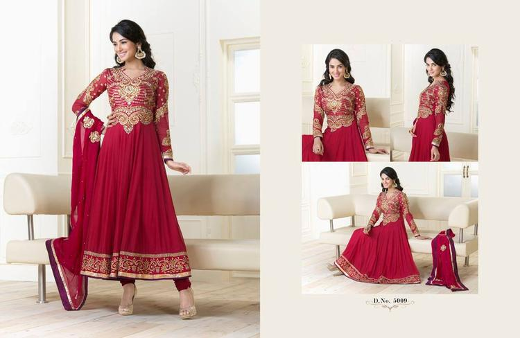Sonal Chauhan In Red Anarkali Ravishing Look Photo Shoot Still