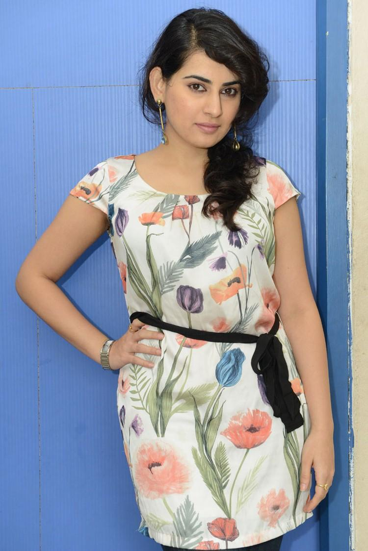 Archana Modeling Pose Photo Shoot At Panchami Teaser Trailer Launch Function