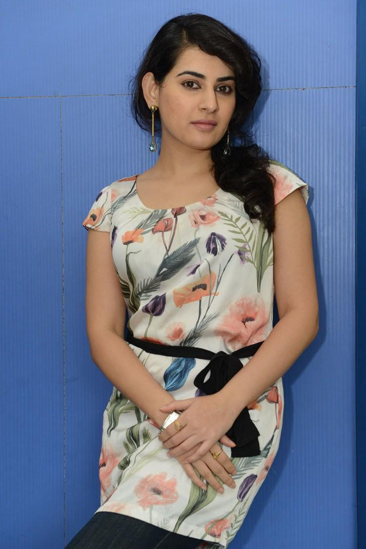 Archana Posed For Camera At Panchami Teaser Trailer Launch Function