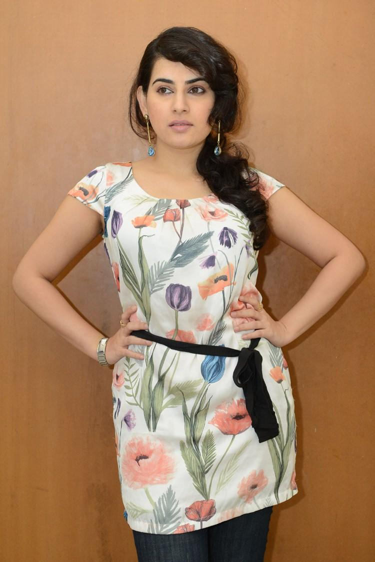 Archana Posed During The Panchami Teaser Trailer Launch Function