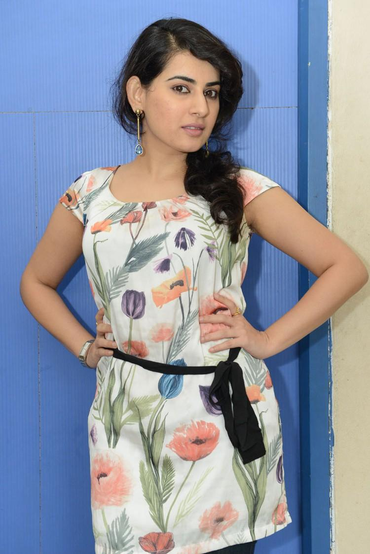 Archana In Printed Tops Glamour Look Still At Panchami Teaser Trailer Launch Function