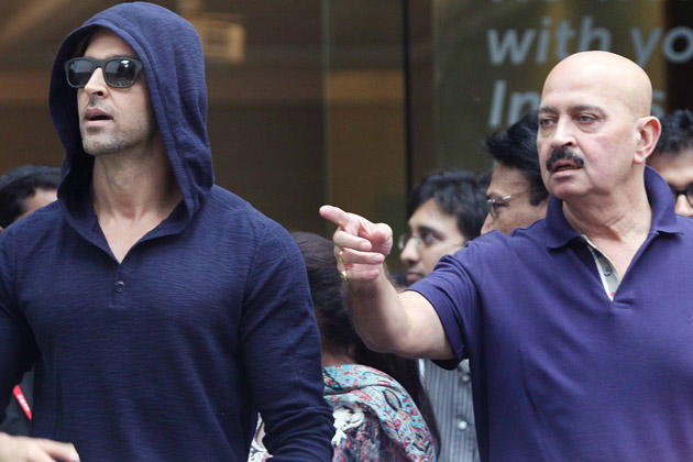 Hrithik And Father Rakesh During Discharged From Hospital After Successful Brain Surgery