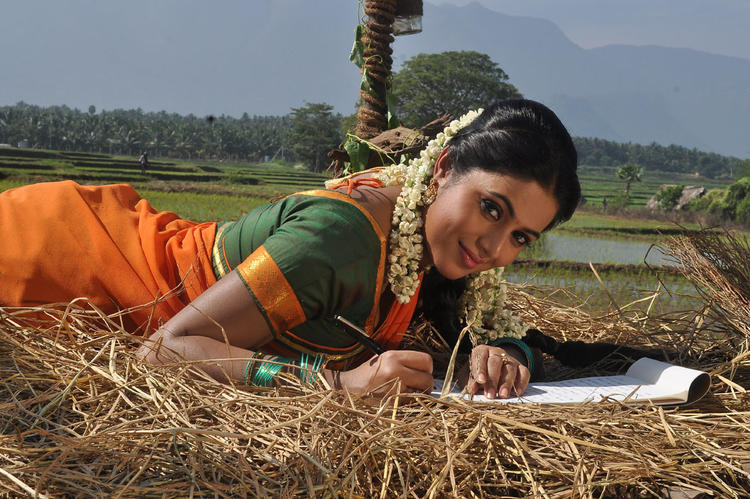 Poorna Cool Look Still From Telugulo Naaku Nachani Padam Prema Movie