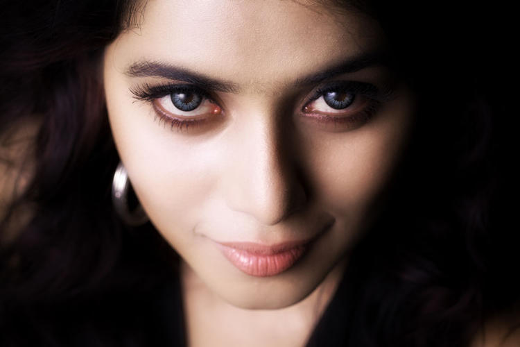 Poorna Hot Eyes Look Still From Telugulo Naaku Nachani Padam Prema Movie