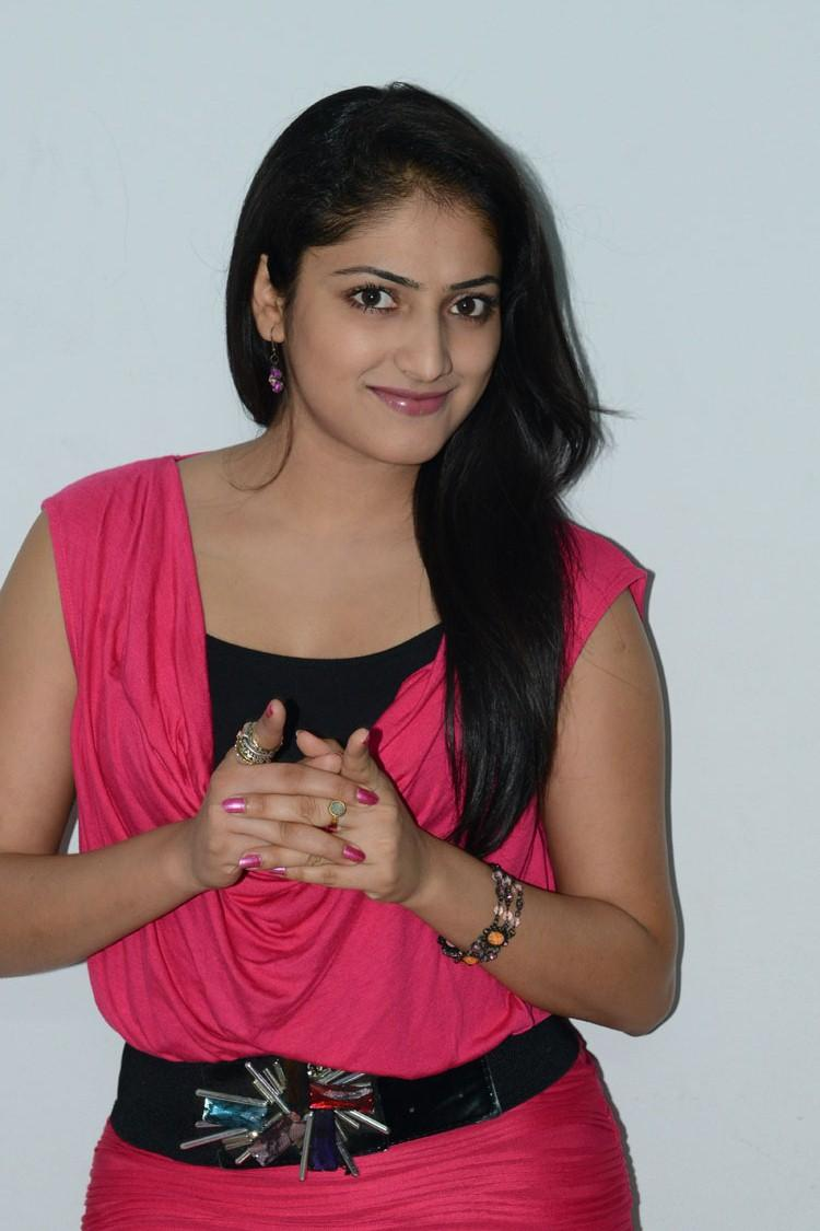 Hari Priya Cute Pose For Photo Shoot At Telugulo Naaku Nachani Padam Prema Press Meet