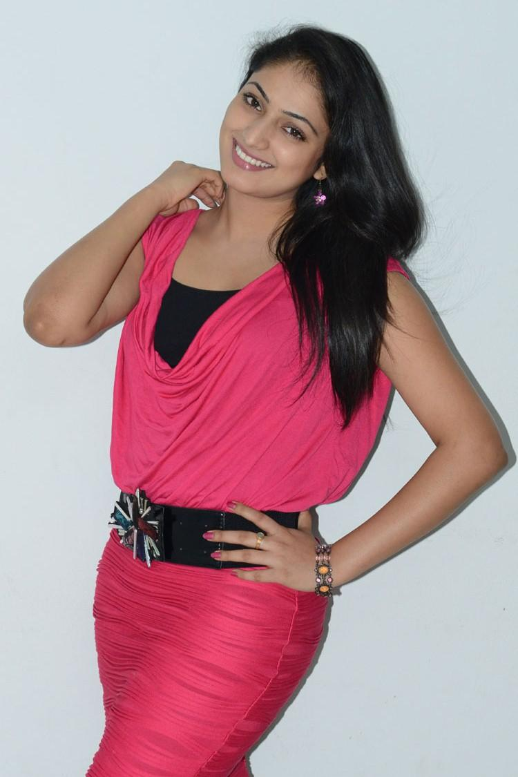 Hari Priya Pose For Camera At Telugulo Naaku Nachani Padam Prema Press Meet