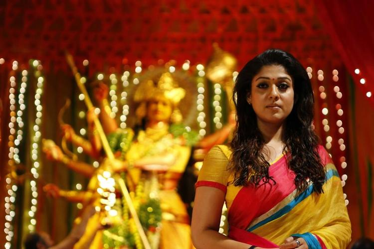 Nayanathara Looking Hot In Saree From The Movie Anamika