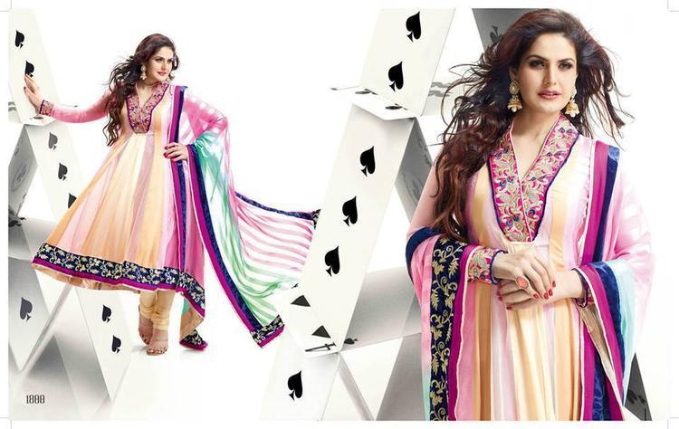 Zarine Khan In Anarkali Dress Trendy Look Photo Shoot Still