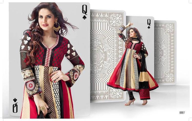 Zarine Khan Dazzling Look In Anarkali Photo Shoot Still