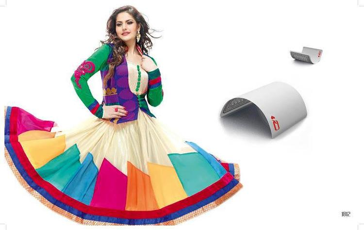 Zarine Khan Fashionable Look In Anarkali Dress Photo Shoot Still