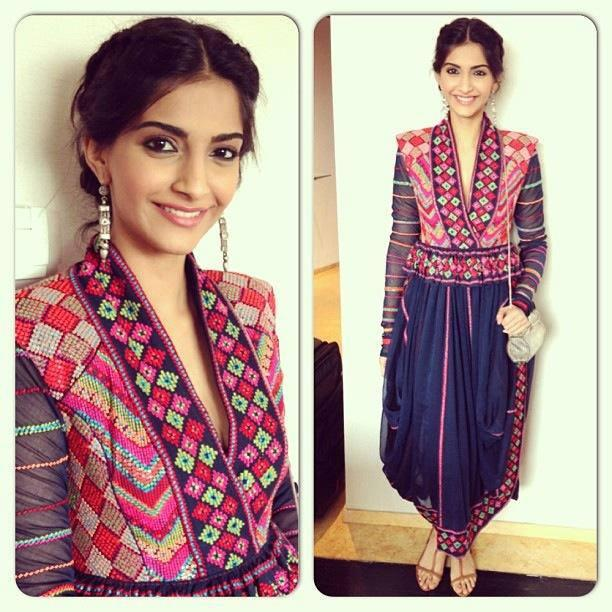 Sonam Looks Gorgeous In This Payal Prathap Dress. Sonam Looks Radiant In The Bright Colors