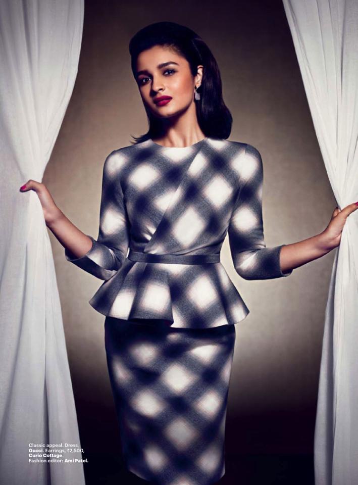 Alia Bhatt Hot Gorgeous Pose For Harper's Bazaar India July 2013