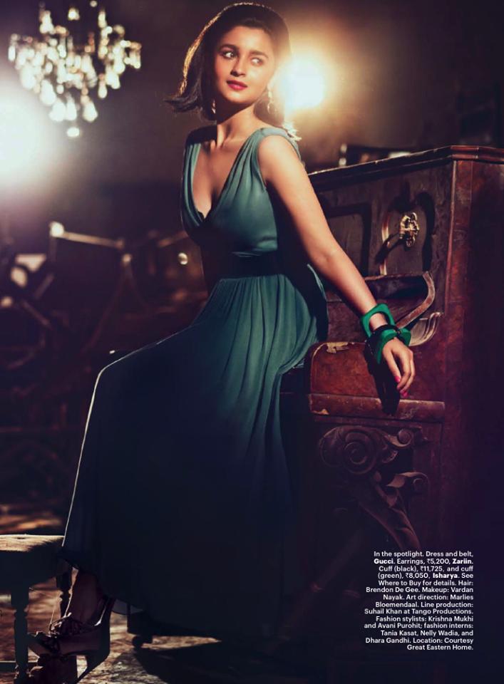 Alia Bhatt Stunning Pose Photo Shoot For Harper's Bazaar July Issue Cover
