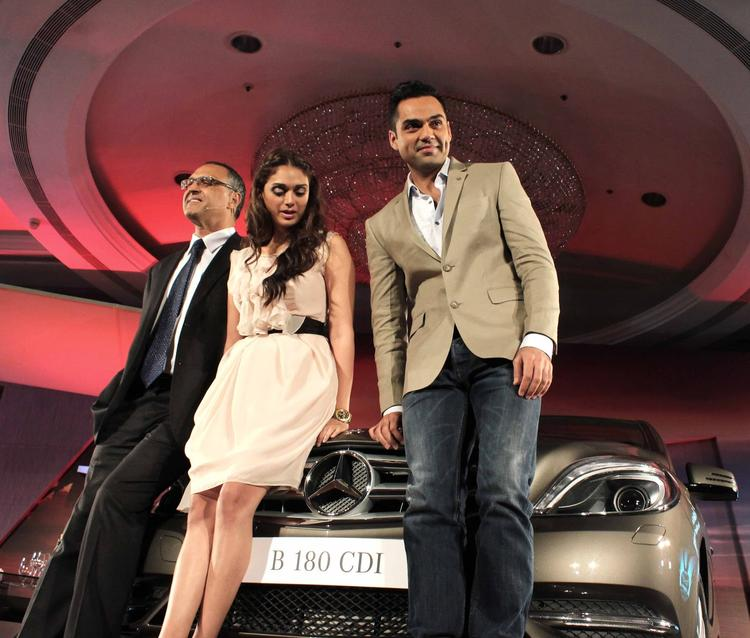 Abhay Deol And Aditi Rao Hydari Launched The Mercedes-Benz B180.