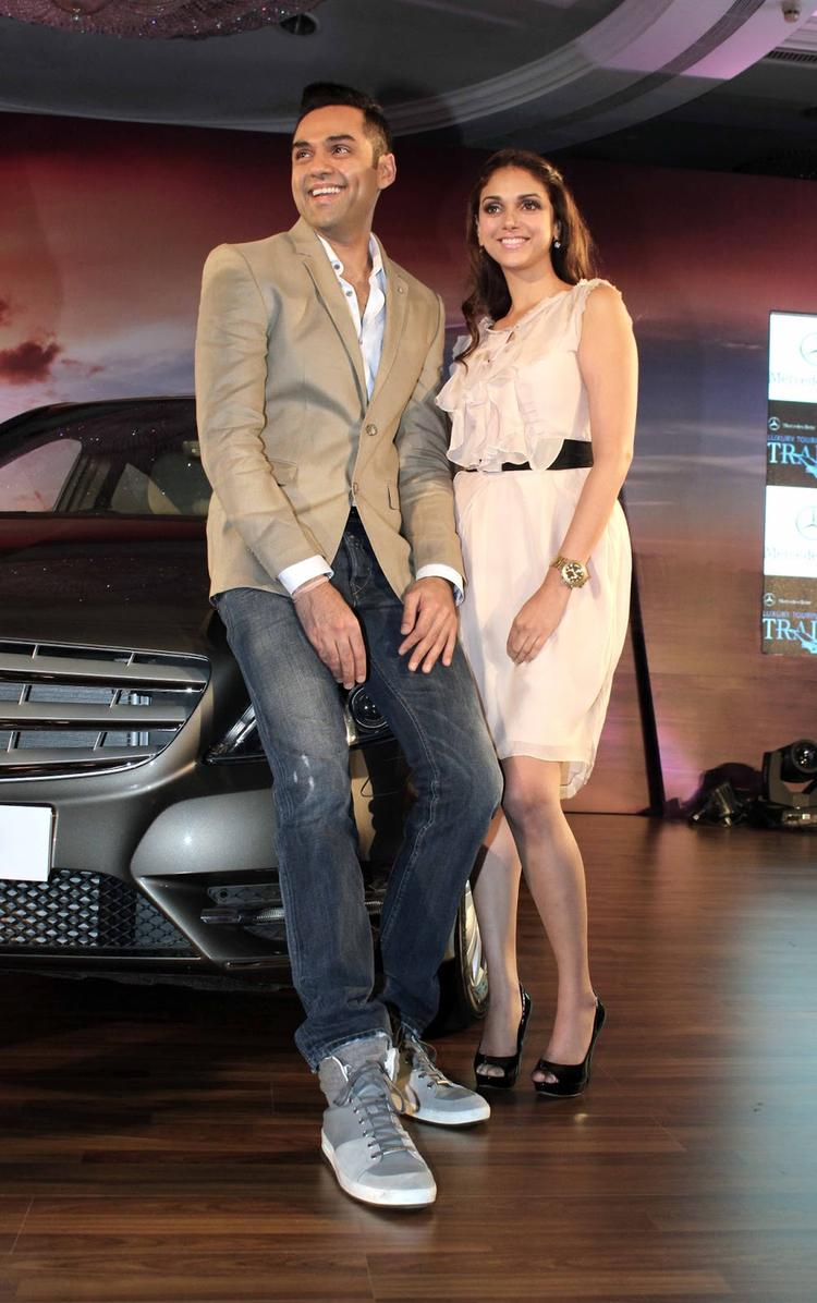 Abhay Deol And Aditi Rao At Launch Of Mercedes B 180 CDI Style (Diesel) Car