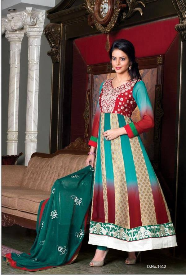 Pretty Aamna Sharif Multy Color Dress Latest Photo Shoot For New Collection 2013