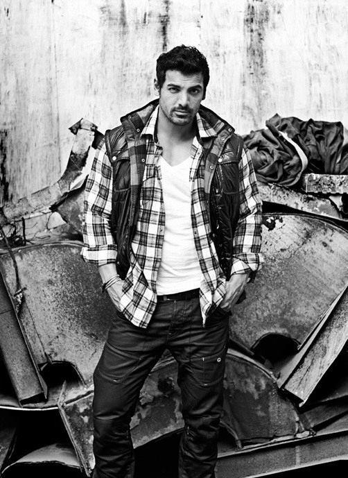 John Abraham Dashing Pose For Harper Bazaar July 2013