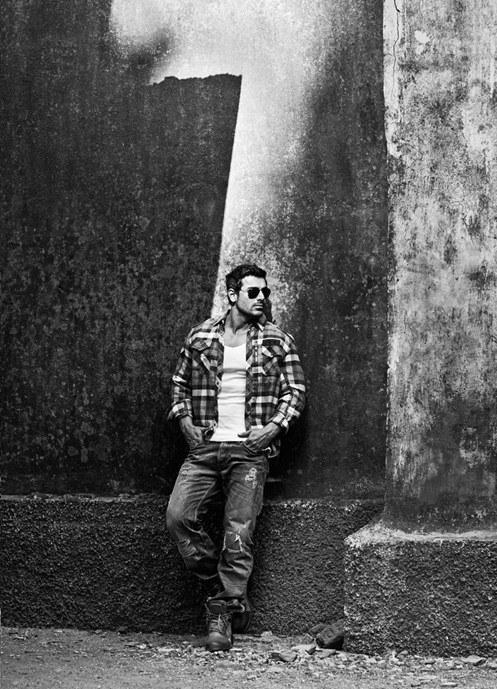 John Abraham Strikes A Pose For Harper Bazaar July 2013