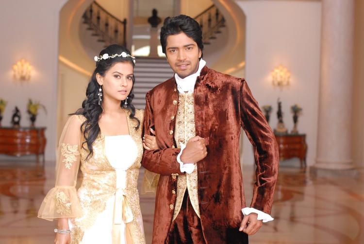 Allari Naresh And Sharmila Mandre In Wedding Dress Still From The Movie Kevvu Keka