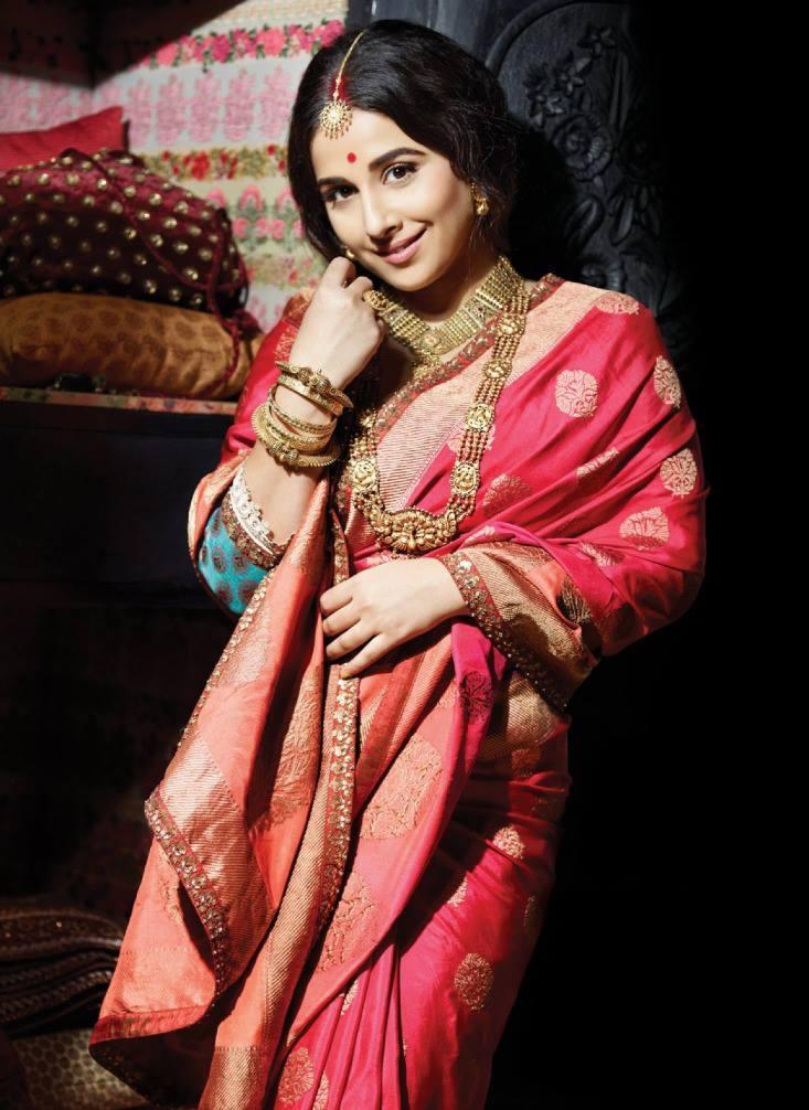 Vidya Balan Cute Smiling Look Photo Shoots For Filmfare July 2013