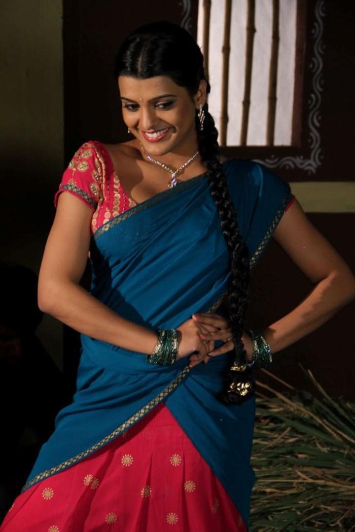 Tashu Kaushik In Village Girl Dress Cute Look Still