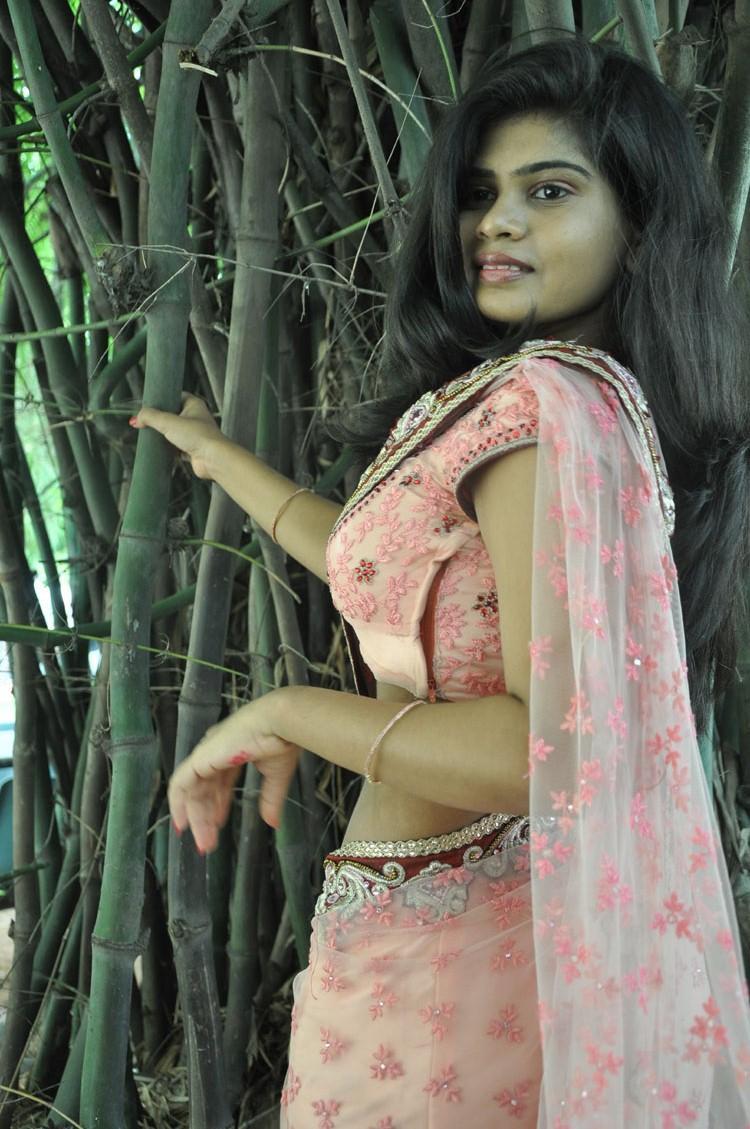 Alekhya Strikes A Pose For Camera At Anandam Malli Modalaindi Movie Logo Launch Event