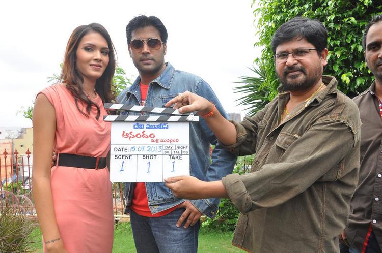 Anandam Malli Modalaindi Movie Launch Angel Singh And Akash Still