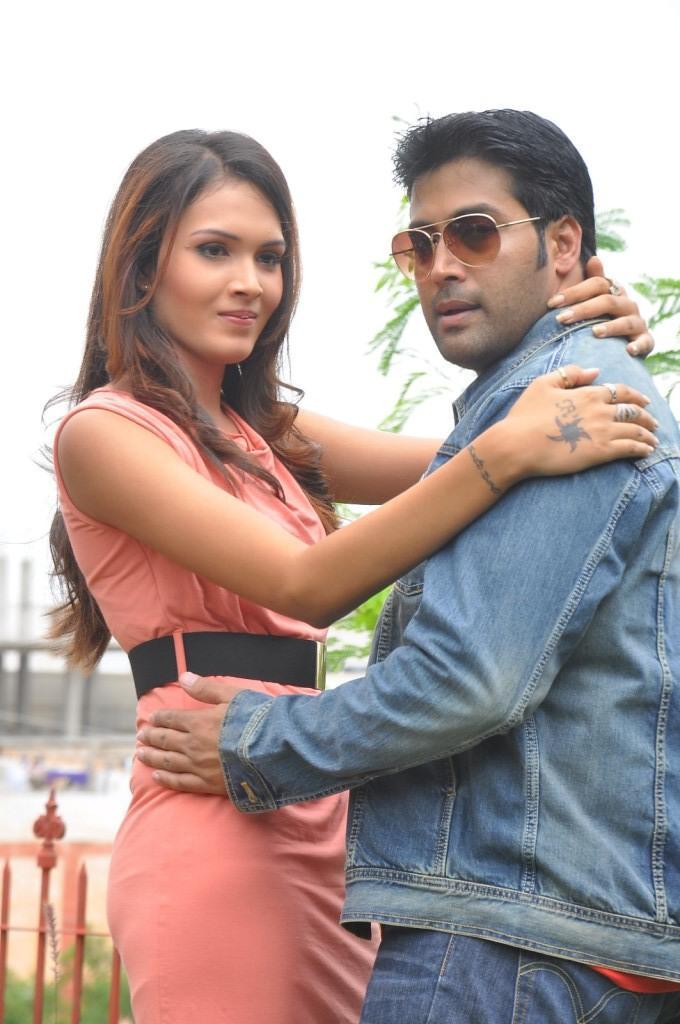 Angel Singh And Akash Strikes A Pose During Anandam Malli Modalaindi Movie Launch