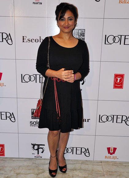 Bollywood Actress Divya Dutta During The Success Party Of The Film Lootera In Mumbai
