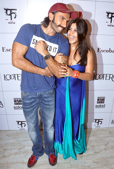 Ranveer Singh Has His Producer Ekta Kapoor In Splits Share The Joke Guys