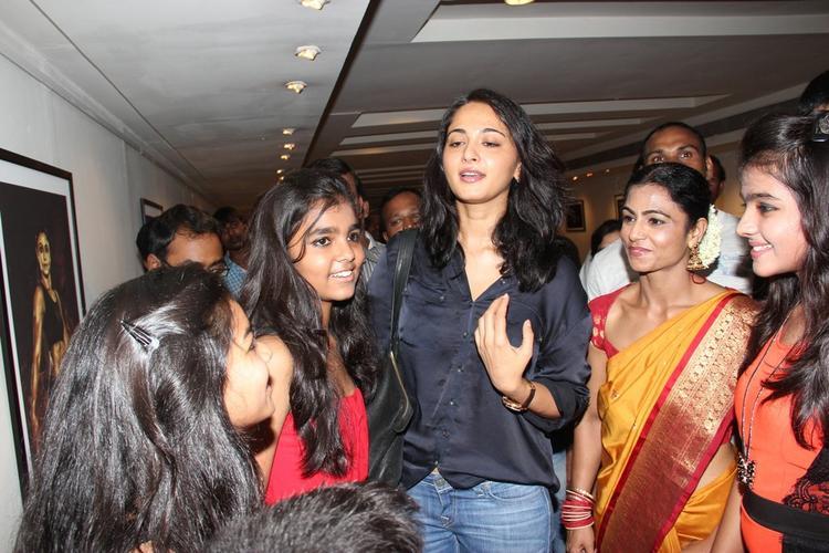 Anushka Shetty With Fans At Super Mom Photo Exhibition