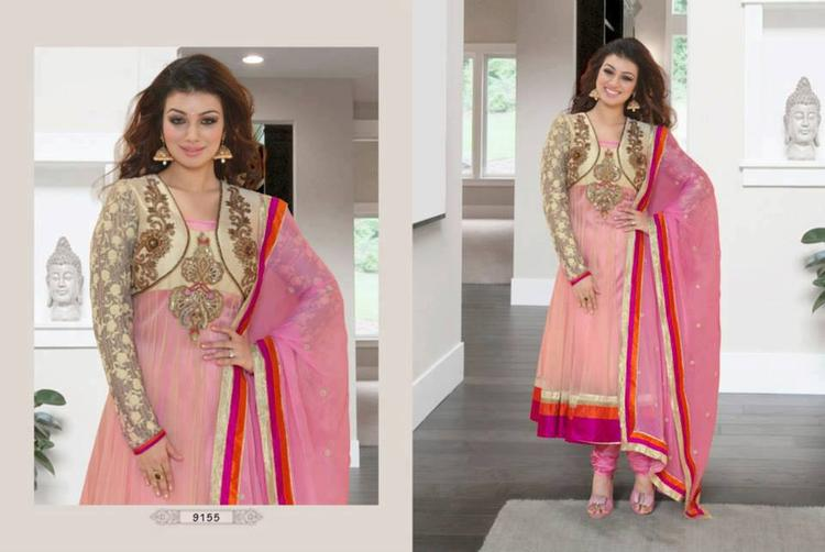 Ayesha Takia Pink Party Wear Anarkali Suit Photo Shoot