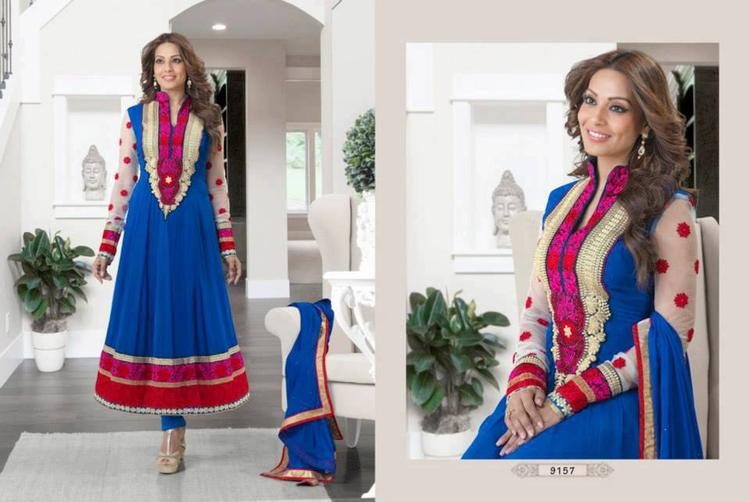 Bipasha Basu Looking Hot In This Sleevefull Anarkali Dress