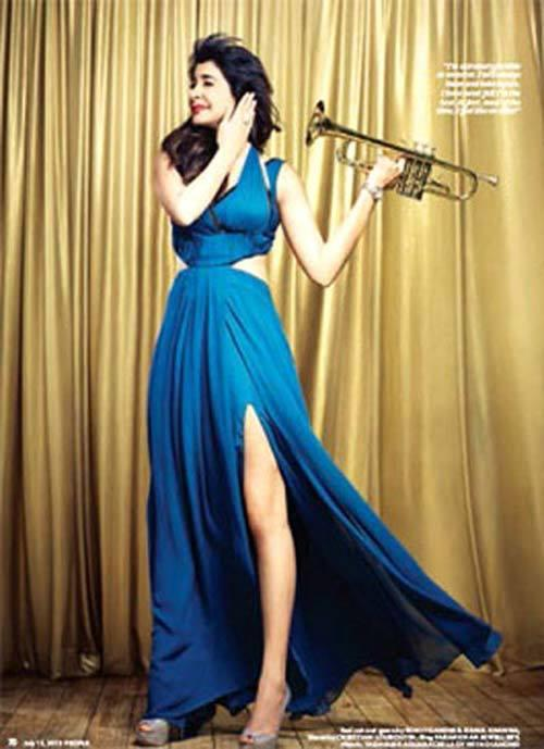 Anushka Sharma Pose With Trumpet For People Magazine July  Issue 2013