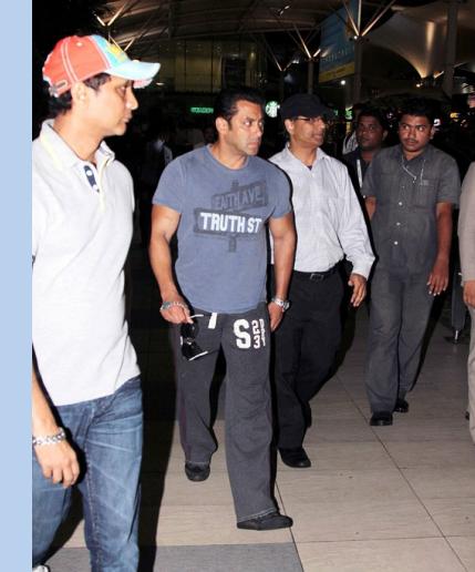 Salman Khan Hot Look At Mumbai Airport Returning From Hyderabad