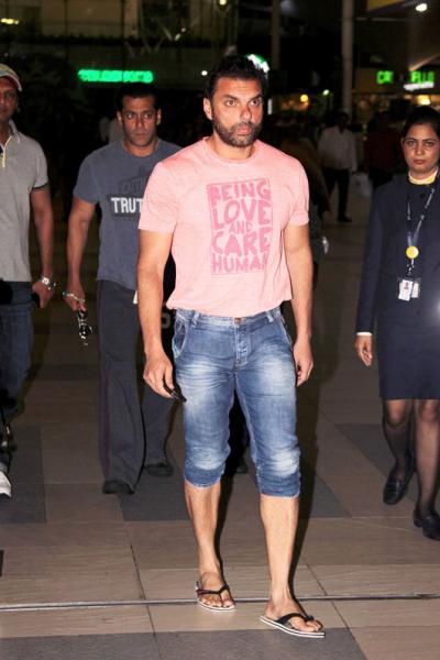 Sohail Khan Spotted At Mumbai Airport Returning From Hyderabad