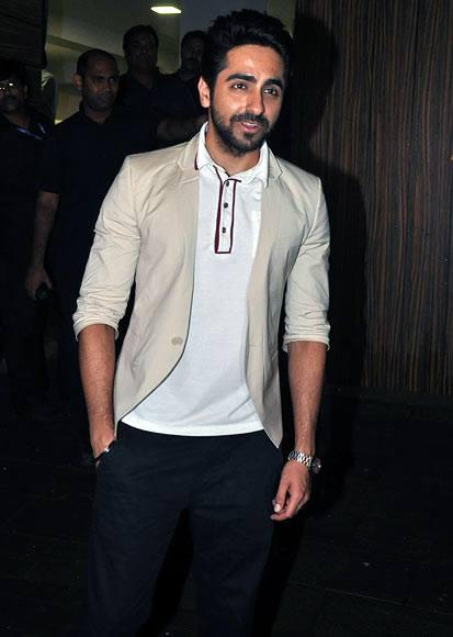 Ayushmann Khurrana Attend The Screening Of Ship Of Theseus At Aamir Khan's Home