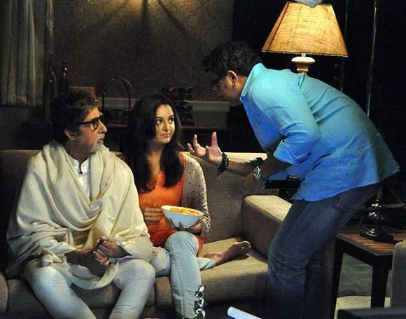 Amitabh And Manju Kalyan Jewellers Ad Shoot Set Still