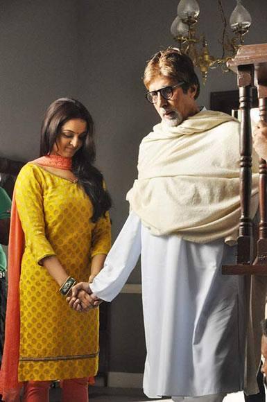 Amitabh And Manju A Still From Kalyan Jewellers Ad Shoot