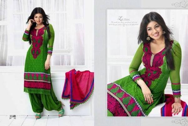 Ayesha Takia In Natasha Couture For New Salwar Kameez Collection 2013
