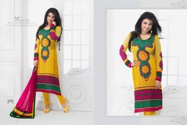 Ayesha Takia New Salwar Kameez Collection 2013 In Natasha Couture For Girls