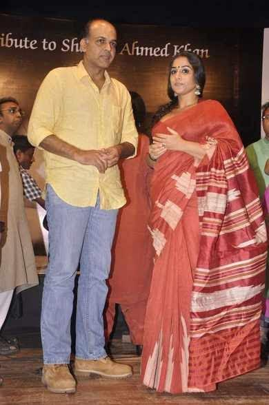 Ashutosh And Vidya Clicked At Zakir Hussain Live Musical Concert 2013