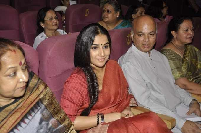 Vidya Balan Attend The Zakir Hussain Live Musical Concert 2013
