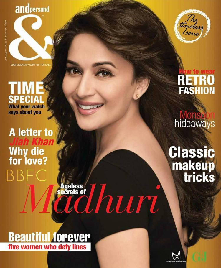 Evergreen Beauty Madhuri Dixit On The Cover Of Andpersand  July August