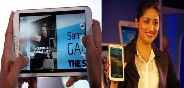Yami Gautam Unveils The Galaxy Tab 3 Series At New Delhi