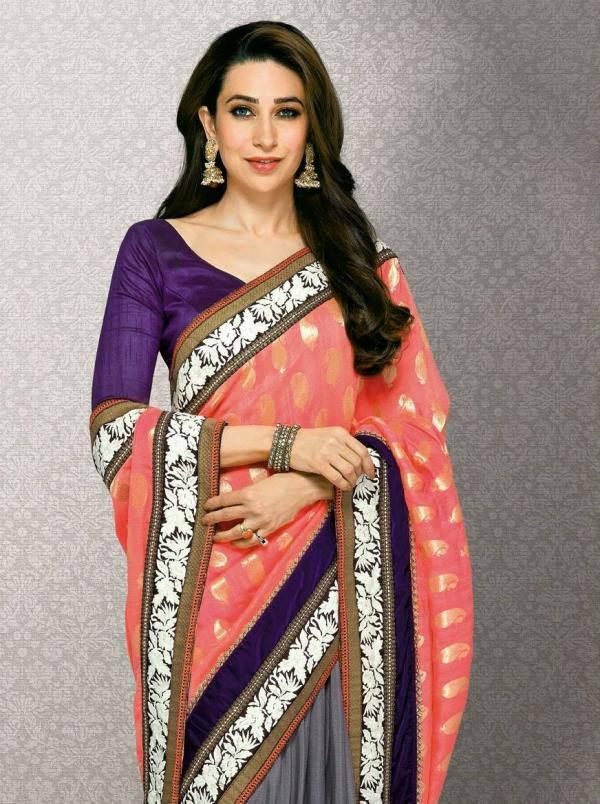Bollywood Style Icon Karisma Kapoor Beauty Still In Saree