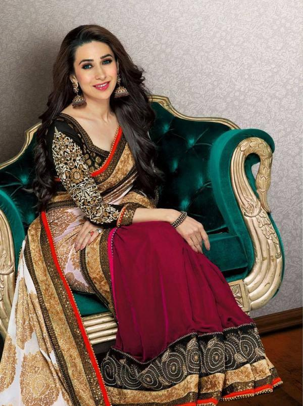 Karisma Kapoor Dazzling Look Still In Gorgeous Saree