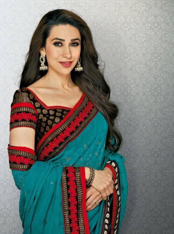 Karisma Kapoor Pretty Look Photo Shoot In Saree