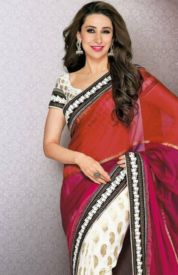 Karisma Kapoor Sizzling Pose Photo Shoot In Saree